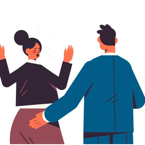 hombre tocando a mujer sin su conscentimiento