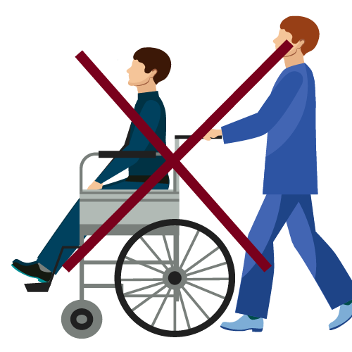 lugar sin accesibilidad para personas con silla de ruedas