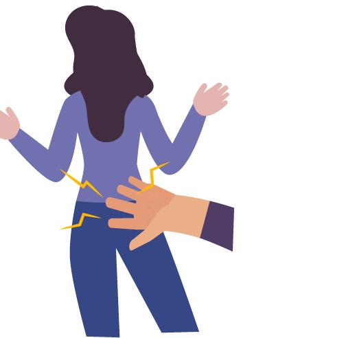 mano dando nalgada a mujer de espaldas