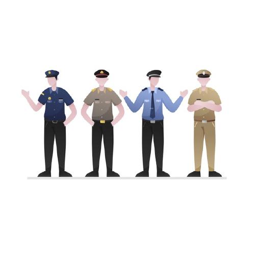imagen de policias y personas de seguridad