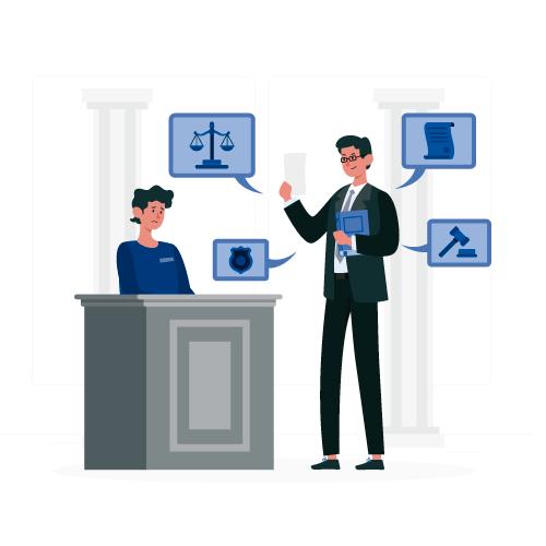 imagen de mujer con proteccion legal de abogado