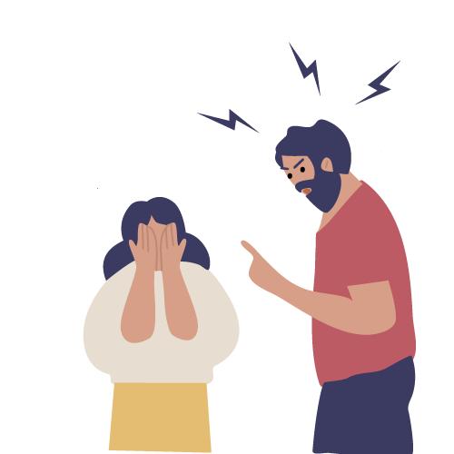 imagen de padre gritando a niña