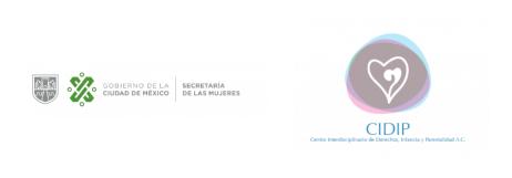 logos secretaria de las mujeres y CIDIP
